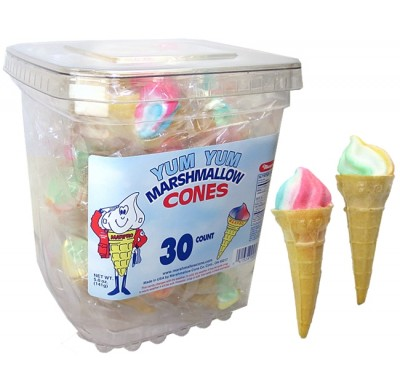 Yum Yum Marshmallow Cone 30ct.