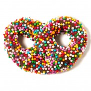 Pretzels Mini Milk Chocolate With Rainbow Nonpareils