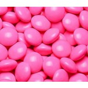Chocolate Buttons (Gems) Milk Chocolate Pink