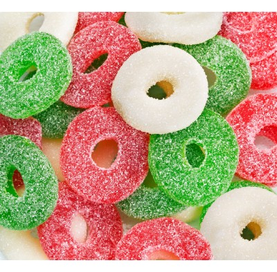 *Gummy Christmas Wreaths Sanded 4.5lb.