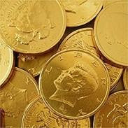 Gold Coins Half Dollar Size - 1lb Bag