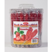 Rock Candy on a Stick 36ct. Tub Red (Strawberry Flavor)