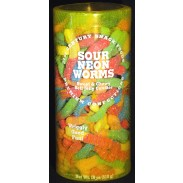 Sour Neon Worms 18oz. Canister