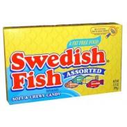 SWEDISH FISH ASSORTED 3.5oz. MOVIE THEATER BOX